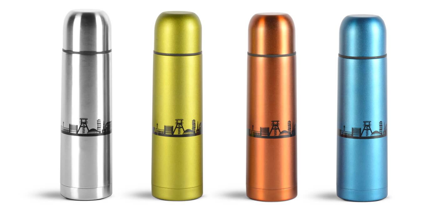 Marke-Merchandising-Thermoskannen
