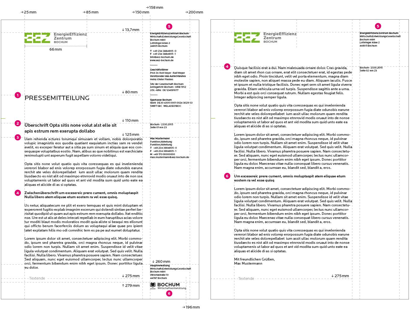 EnergieEffizienzZentrum Geschäftsausstattung Pressemitteilung