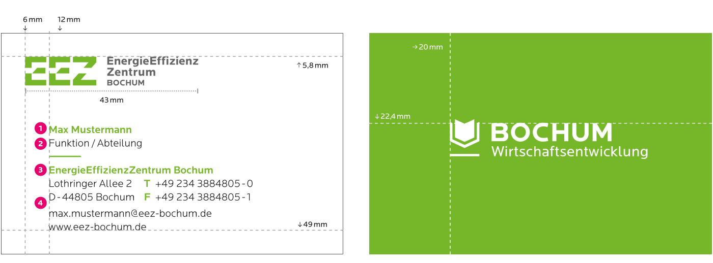EnergieEffizienzZentrum Geschäftsausstattung Visitenkarten