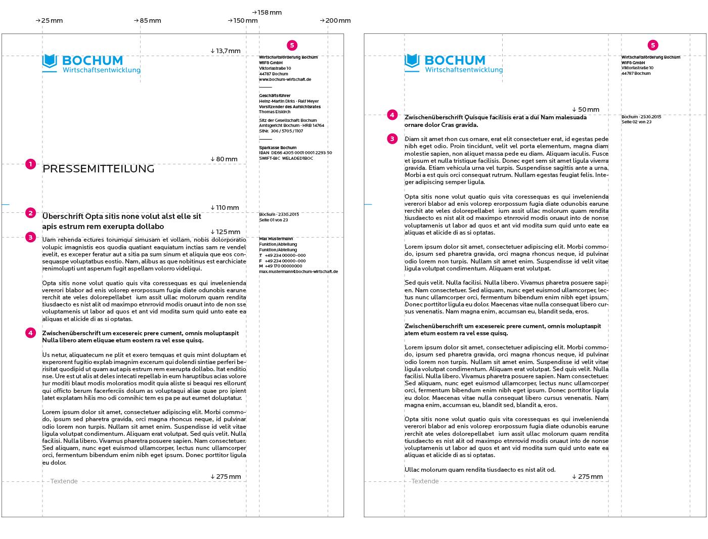 Bochum Wirtschaftsentwicklung Geschäftsausstattung Pressemitteilung